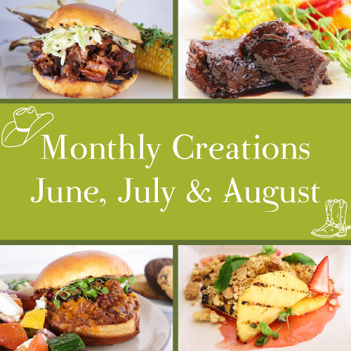 June, July & August Monthly Creations