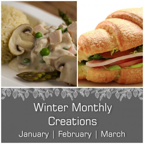 January, February & March Monthly Creations